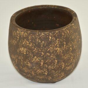 Vase marron & or