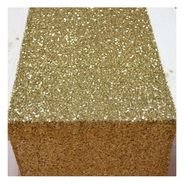 Sequins or e c events e c events for Tissu pour chemin de table