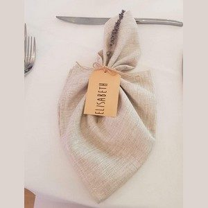 Serviette lin naturel